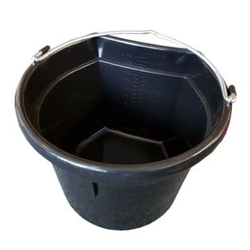 20L FLAT SIDED BUCKET with HANDLE - LARGE - equestrian horse stable water feed